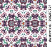 hand drawn vector ethnic... | Shutterstock .eps vector #608257529