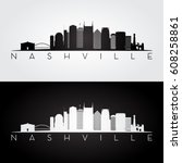 nashville usa skyline and