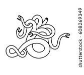 flat linear hydra illustration | Shutterstock . vector #608269349