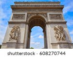 arc de triomphe in paris arch... | Shutterstock . vector #608270744