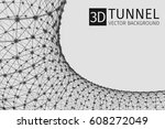 abstract tunnel vector... | Shutterstock .eps vector #608272049