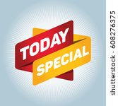 today special arrow tag sign. | Shutterstock .eps vector #608276375