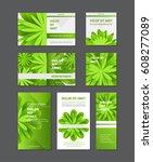 vector design templates green... | Shutterstock .eps vector #608277089