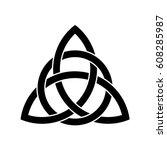 celtic trinity knot. | Shutterstock .eps vector #608285987