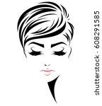 illustration of women short... | Shutterstock .eps vector #608291585