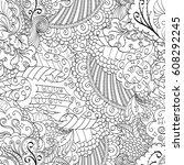 tracery seamless pattern.... | Shutterstock .eps vector #608292245