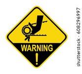 warning crushing hand sign ... | Shutterstock .eps vector #608296997
