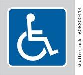 Vector Handicap Sign. White...