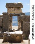 Small photo of Ruins of the ancient Lycian city Arycanda in Finike, Turkey