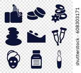 Therapy Icons Set. Set Of 9...