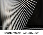 abstract design of shiny steel... | Shutterstock . vector #608307359
