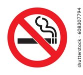 vector no smoking sign | Shutterstock .eps vector #608307794