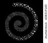 automation fireworks vortex... | Shutterstock .eps vector #608319185