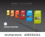 vector infographic company... | Shutterstock .eps vector #608336261