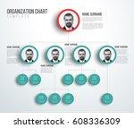 minimalist company organization ... | Shutterstock .eps vector #608336309
