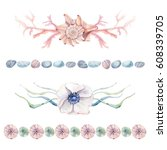 hand drawn sea clipart.  it's... | Shutterstock . vector #608339705