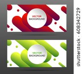 vector banner with paper card... | Shutterstock .eps vector #608342729