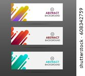 vector banner with paper card... | Shutterstock .eps vector #608342759