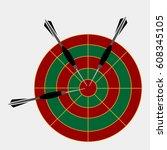 darts label. badge logo. darts... | Shutterstock .eps vector #608345105
