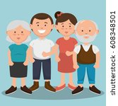 family members avatars... | Shutterstock .eps vector #608348501