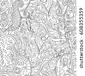 tracery seamless pattern.... | Shutterstock .eps vector #608355359