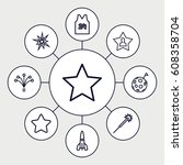 star icons set. set of 9 star...