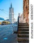belfort tower  ghent  belgium | Shutterstock . vector #608360057