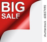 text big sale under red curled... | Shutterstock .eps vector #60837490