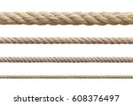 collection of  various ropes...   Shutterstock . vector #608376497