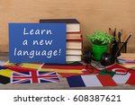 learning languages concept  ... | Shutterstock . vector #608387621