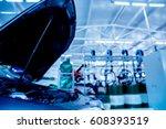 auto repair service. blurred... | Shutterstock . vector #608393519