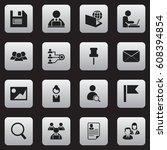 set of 16 editable company...