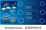 infographic frames and circles. ... | Shutterstock .eps vector #608396045