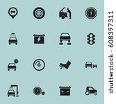 set of 16 editable traffic... | Shutterstock .eps vector #608397311