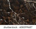 beautiful brown vein marble... | Shutterstock . vector #608399687