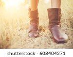 shoe image walking in cluttered ... | Shutterstock . vector #608404271