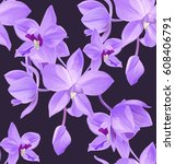 vector illustration of  floral... | Shutterstock .eps vector #608406791