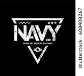 modern american navy grunge... | Shutterstock .eps vector #608408267