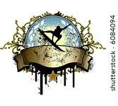 vintage surfing emblem | Shutterstock .eps vector #6084094
