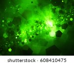 green glowing nebula in deep... | Shutterstock . vector #608410475