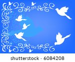 dove on blue background | Shutterstock . vector #6084208