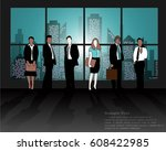 business men and women on the... | Shutterstock .eps vector #608422985