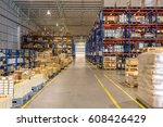 interior of warehouse | Shutterstock . vector #608426429
