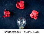 concept enlightenment solution... | Shutterstock . vector #608434601
