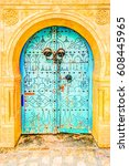 Traditional Old Painted Door I...
