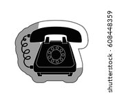telephone service isolated icon | Shutterstock .eps vector #608448359
