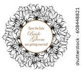 vintage delicate invitation... | Shutterstock .eps vector #608448821
