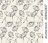 abstract dandelions seamless...   Shutterstock .eps vector #608462837