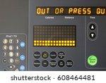 close up digital display screen ...   Shutterstock . vector #608464481