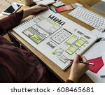 website development layout... | Shutterstock . vector #608465681